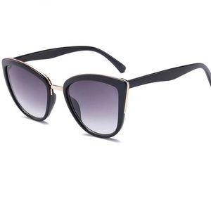 Accessories - Black Cat Eye Gold Rim Sunnies